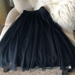 Black tulle flowing skirt